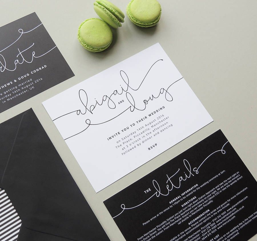 Kate Wedding Invitations | Modern calligraphy, Weddings and Wedding ...