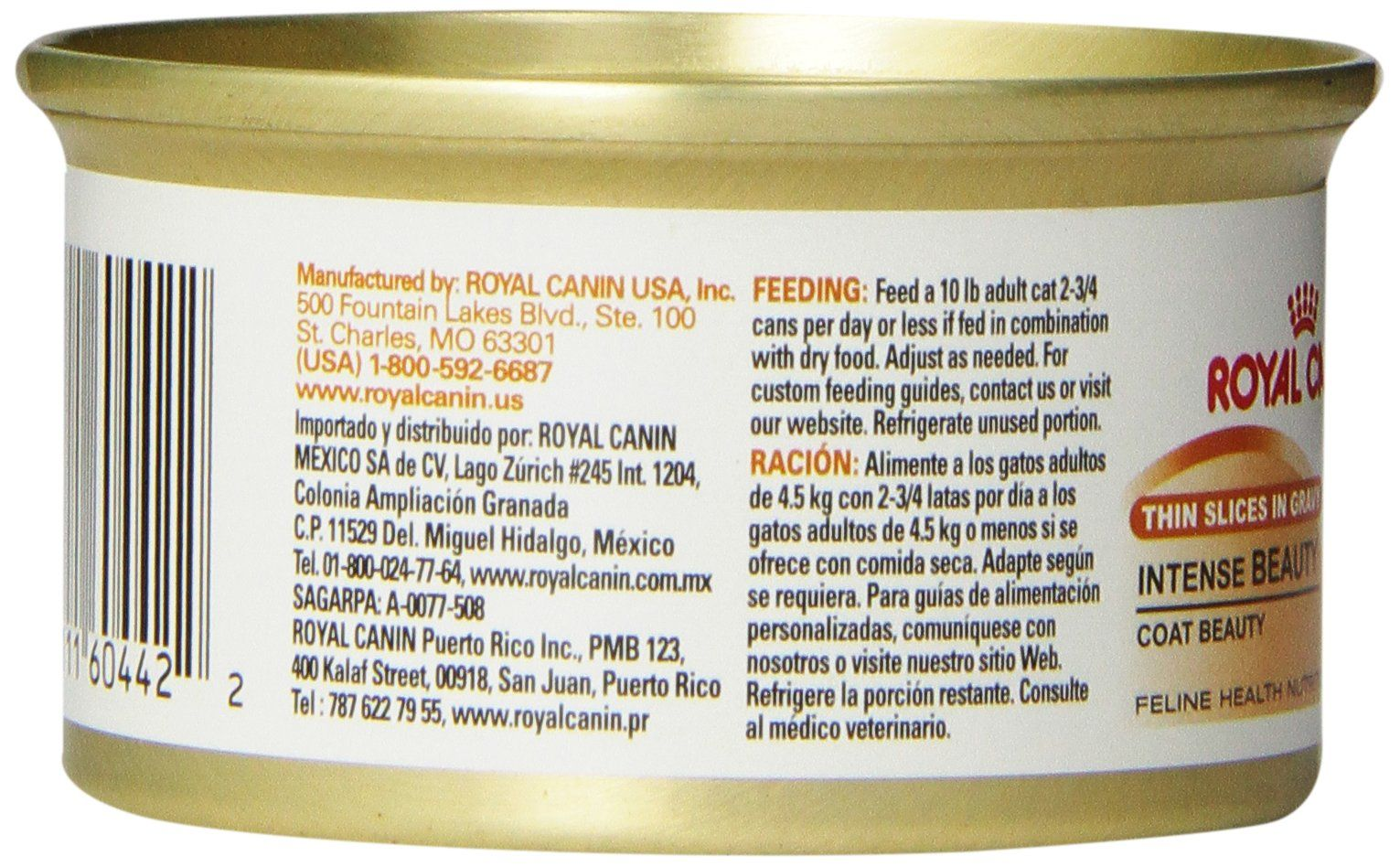 Royal Canin Canned Cat Food Intense Beauty Thin Slices In Gravy Pack Of 24 3ounce Cans Find Out More About The G Canned Cat Food Dry Cat Food Feline Health
