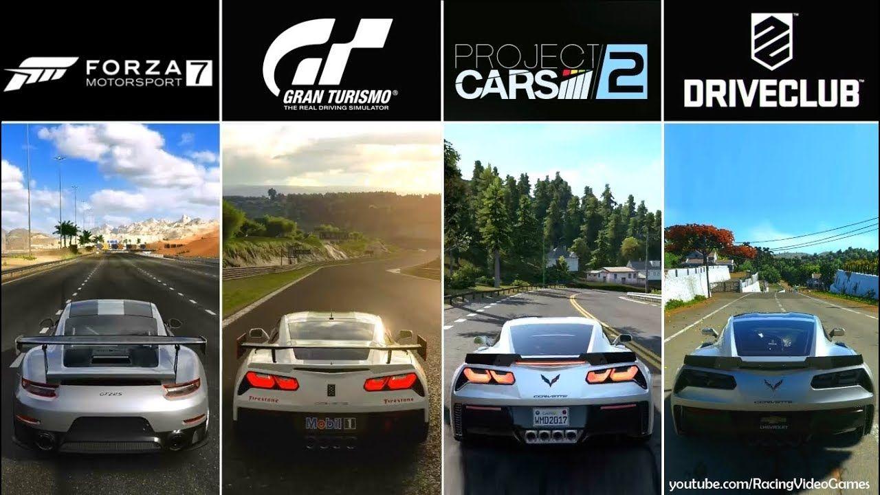 Forza 7 Vs Gran Turismo Sport Project CARS 2 DriveClub