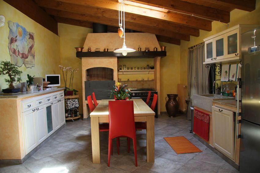 Cucina in muratura con camino bbq - Camini Fai da Te - Camini Milano ...