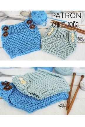 Patrón Para Tejer Un Cubre Pañal Fácil En Dos Agujas Palillos Soy Woolly Patrones Para Tejer Ganchillo Bebé Cubre Pañales