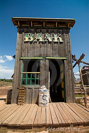 Old west bank building | Old west style building ideas ...