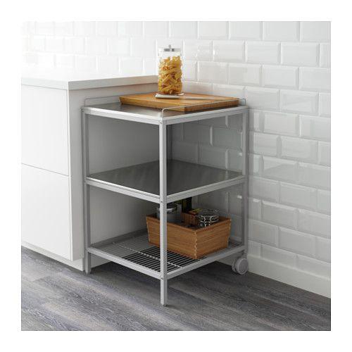 UDDEN Kuhinjska kolica, srebrna, nehrđajući čelik Kitchen