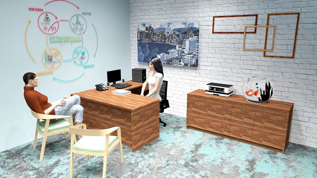Lower level management offices that represent