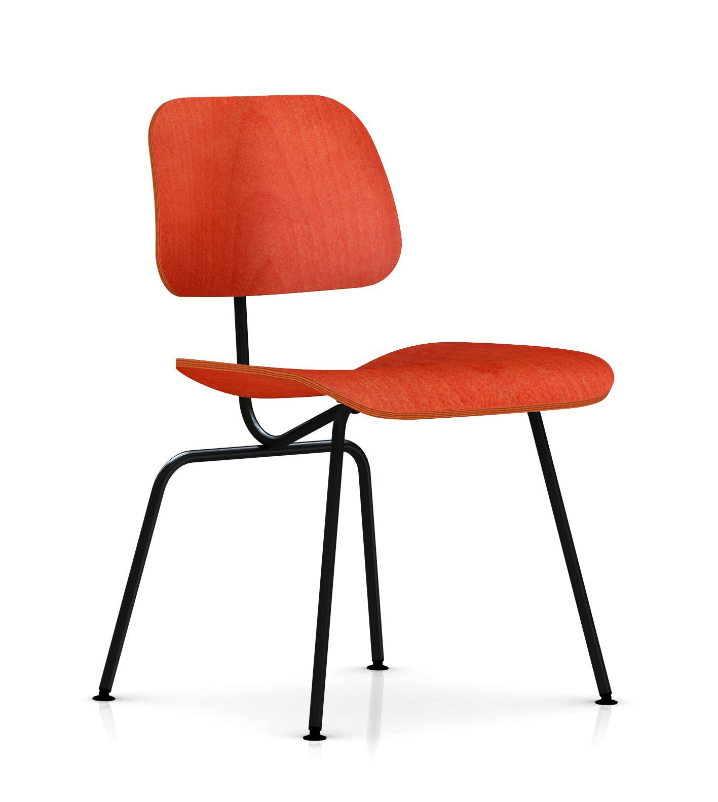 Eames Molded Plywood Dining Chair with Metal Base by