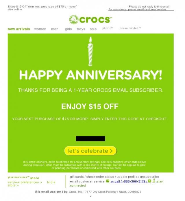 Anniversary Emails Triggered Emails For Increased Engagement Return Path Birthday Email Triggered Email Email Template Design