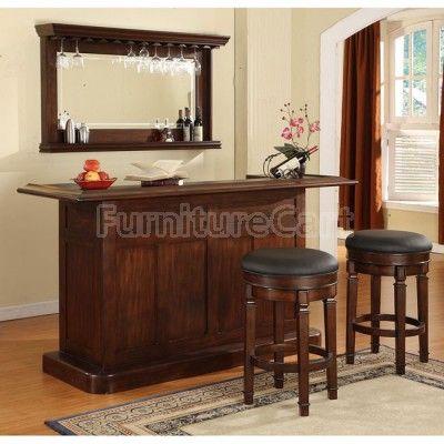 ECI Furniture Nova Bar Set In Distressed Walnut   Wayfair
