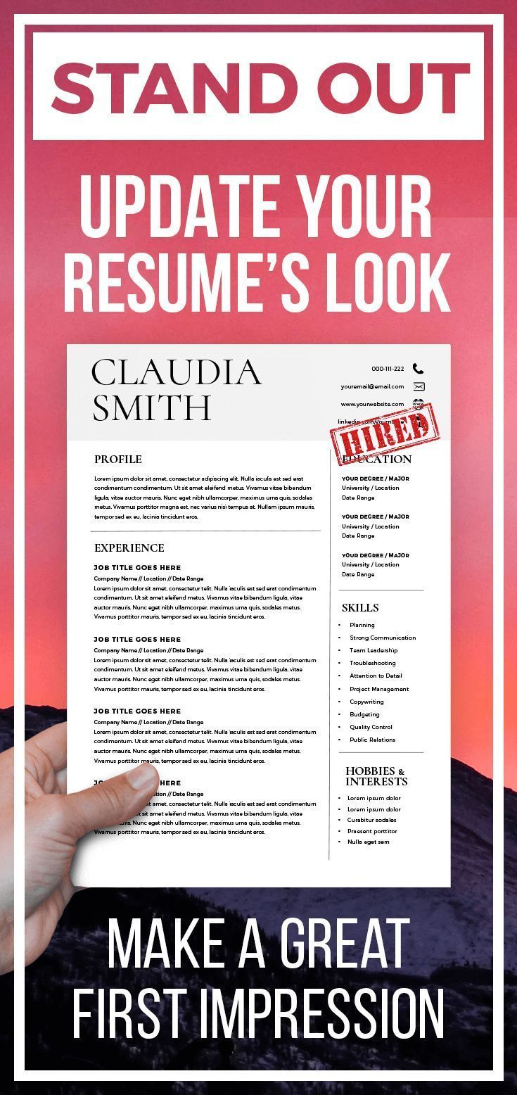 Medical resume template word minimalist resume with cover