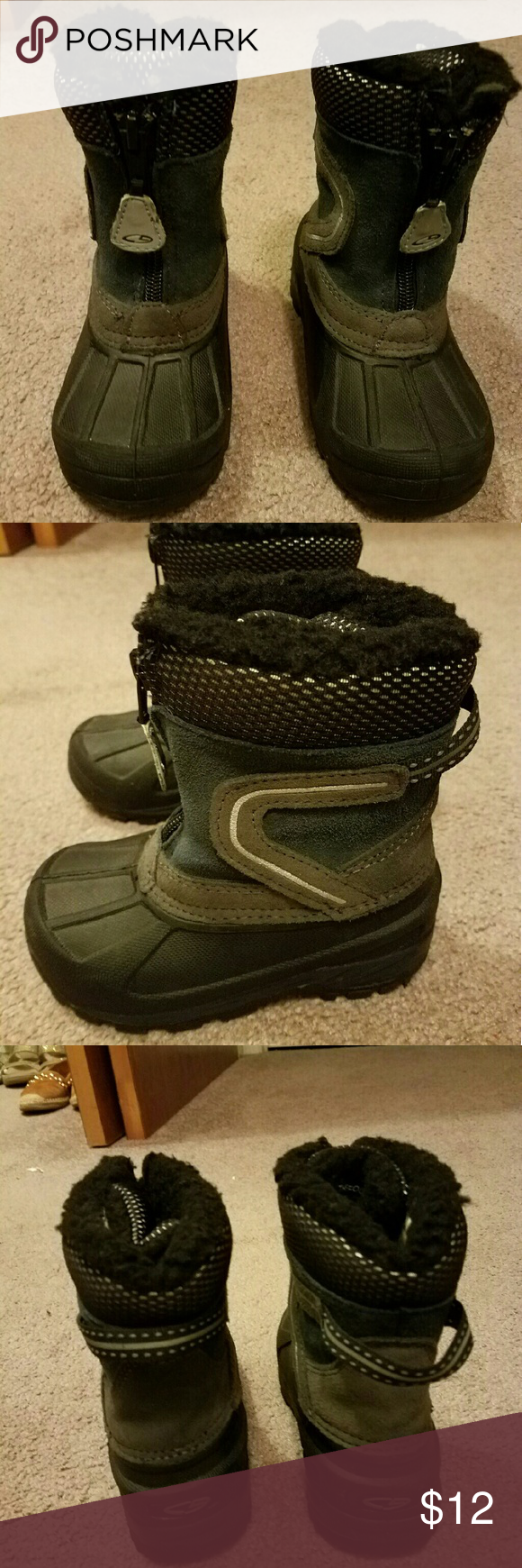 Target toddler boys snow boots size 8 Worn once.  Fantastic condition.  Great for snow says. Target Shoes Rain & Snow Boots