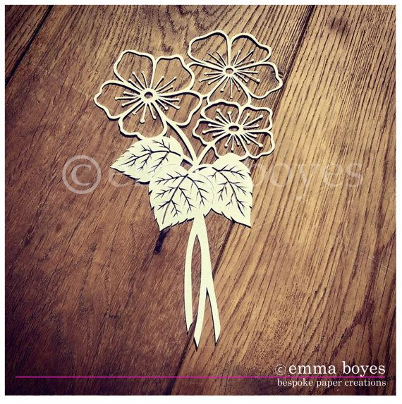 Printable PDF Paper cutting Template - Flowers