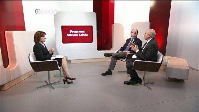 Globo News - Guido Mantega e Armínio Fraga debatem no GloboNews Miriam Leitão