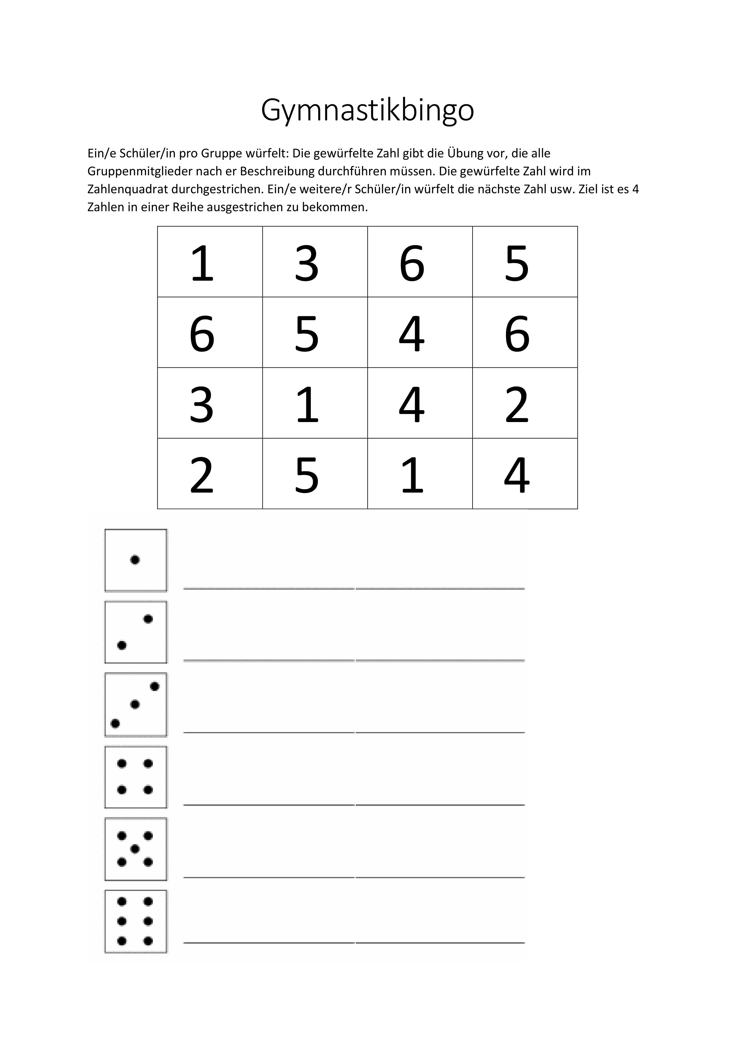 Bingo Vorlage Unterrichtsmaterial Im Fach Sport In 2020 Bingo Vorlage Bingo Unterrichtsmaterial