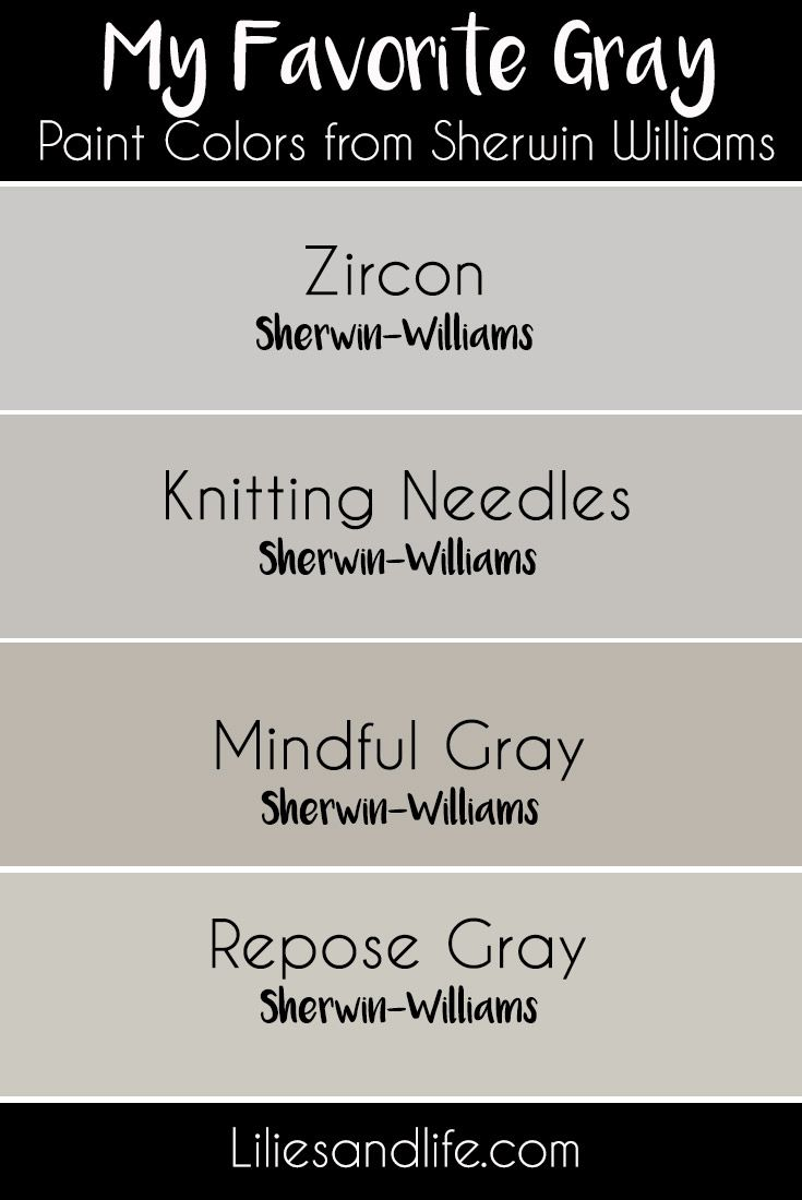 My Favorite Gray Paint Colors