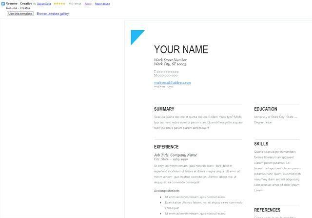 Resume Templates Docs Google Template Doc Professional Word Document