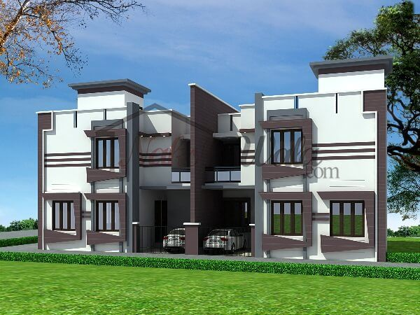 Modern duplex house elevations dallas