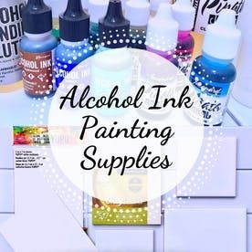 Three Ways to Seal Alcohol Ink Paintings | FeltMagnet #alcoholinkcrafts
