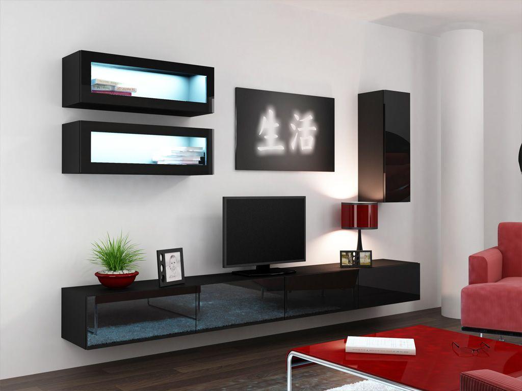 Seattle C2 Meuble Tv Modulable Meuble Tv Moderne Et Meuble Tv Led # Salon Meuble Moderne