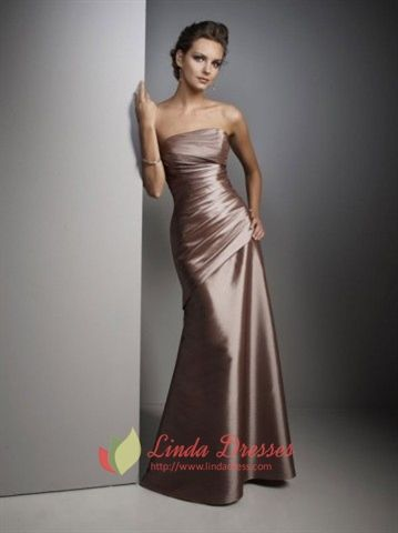 Brown Prom Dresses, Floor Length Bridesmaid Dresses, Dresses For Prom