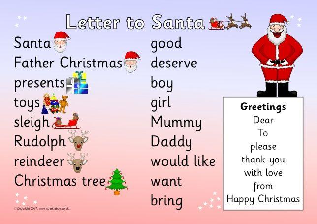 Letter to santa word mat sb11799 sparklebox christmas teaching letter to santa word mat sb11799 sparklebox spiritdancerdesigns Image collections