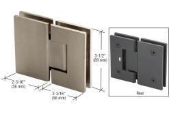 Gen180bn Crl Brushed Nickel Geneva 180 Series 180 Degree Glass To Glass Standard Hinge Glass Hinges Frameless Shower Doors Hardware Hinges