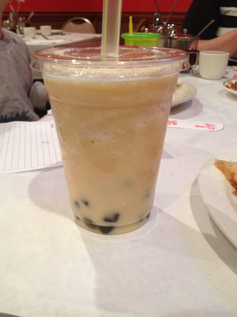 Cold bubble tea at Sunflower Chinese Restaurant & Lounge