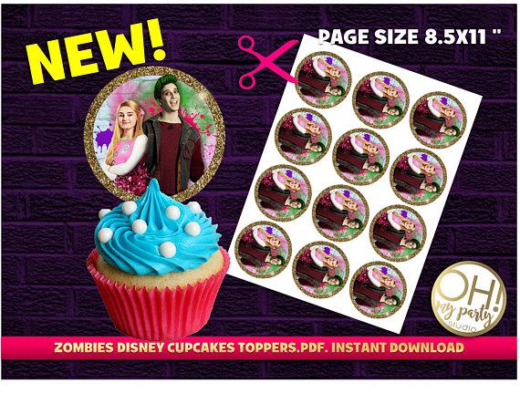 ZOMBIES Disney Partyzombies Cupcake Topperszombies Birthdayzombies
