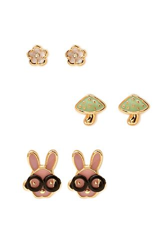 Kitschy Stud Set | FOREVER21 - 1000125214  http://www.forever21.com/Product/Product.aspx?BR=f21&Category=acc&ProductID=1000125214&VariantID=