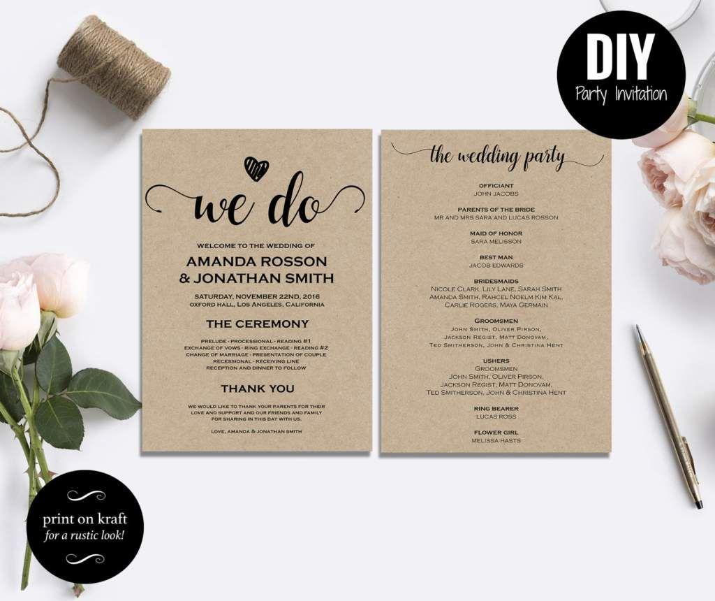 Free Diy Rustic Wedding Invitations Templates