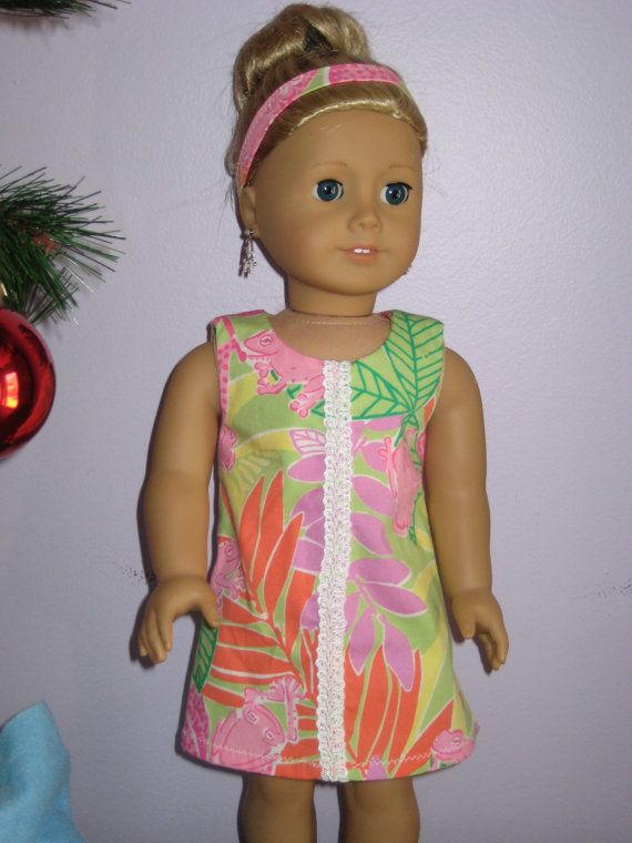 American Girl Doll Dress Handmade Lilly by ChatterboxBeach on Etsy