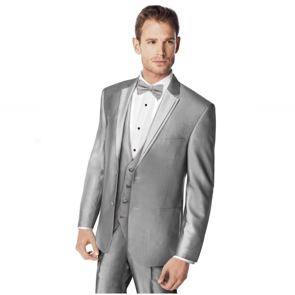 Male Suits Notched Lapel Two On Bow Tie Groomsman Tuxedos Men Wedding New Design Best