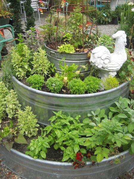 Tri Level Raised Garden Bed In Galvanized Metal Troughs
