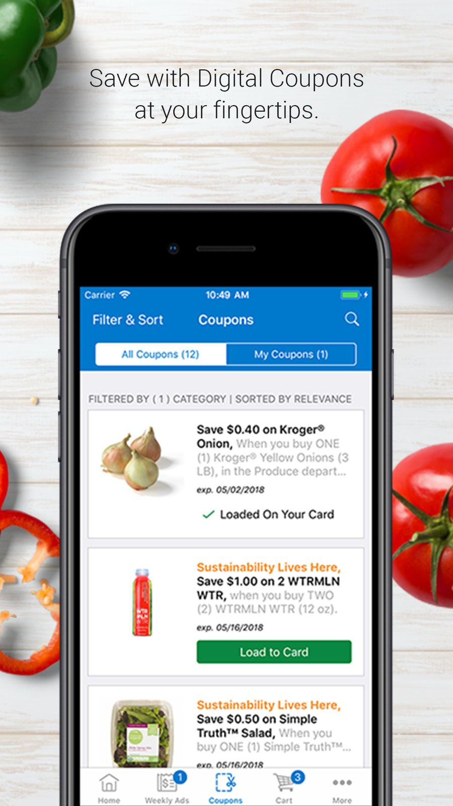 Kroger appsappappstoreios digital coupons all