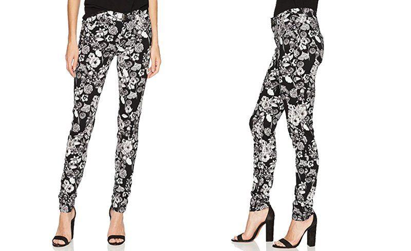 neue niedrigere Preise tolle Auswahl erstklassig Desigual Hosen Damen - Blumemusterung, schwarz, weiß ...