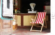 Cadeira de riscas vintage