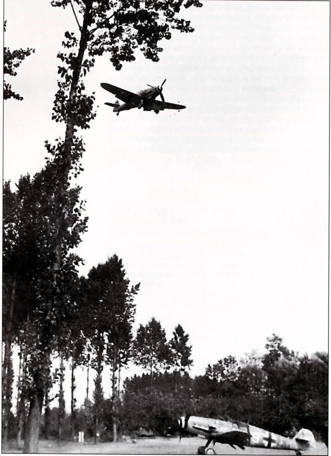 Photo of Bf-109s of JG1 on is coming in to land.