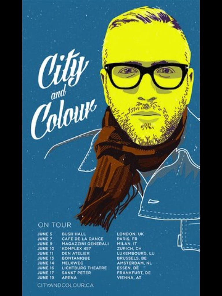 city and colour poster music city colour tour posters y music tours. Black Bedroom Furniture Sets. Home Design Ideas