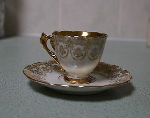 Rare Westminster Fine China Cup Saucer 22ct Gold Mother Of Pearl Design China Cups Antique Tea Cups Fine China