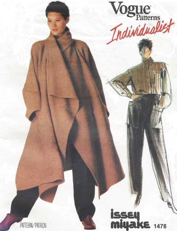 80s Issey Miyake Avant Garde Womens Coat, Shirt & Pants Vogue Sewing ...
