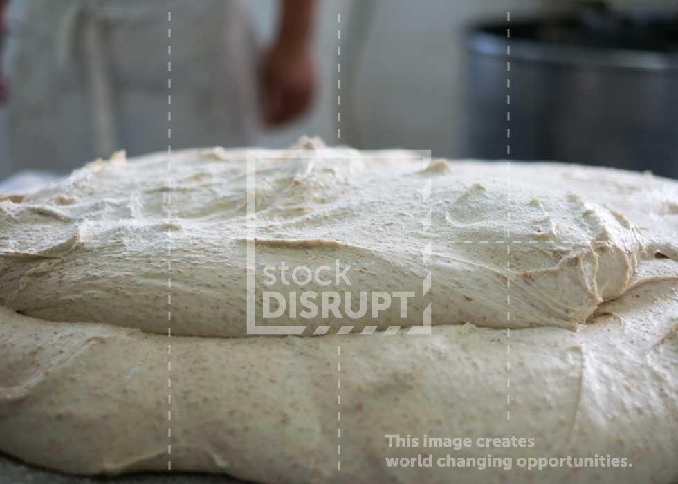 Bread Dough on Metal Table