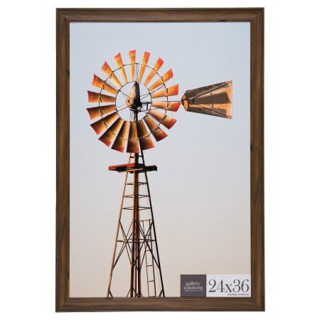 24x36 Walnut Large Wall Frame, Brown | Walmart and Products