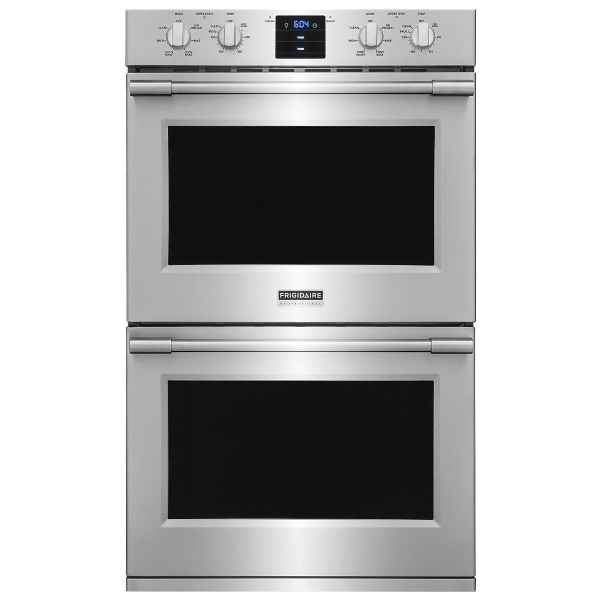 Frigidaire Professional 30 Electric Double Wall Oven With Convection In Stainless Steel Nebraska Wall Oven Double Electric Wall Oven Frigidaire Professional