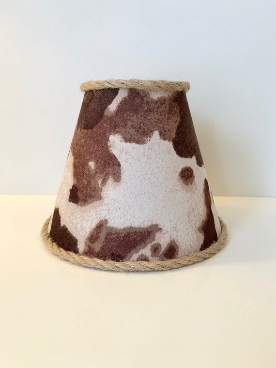 Faux Cowhide Print Sconce Chandelier Clip On Lamp Shade Products