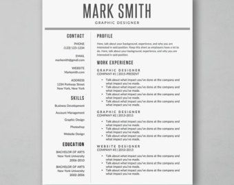 Modern And Creative Professional Resume Template For Word