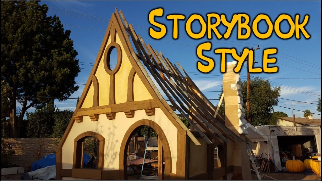 Building a curved roof witch cottage facade witch