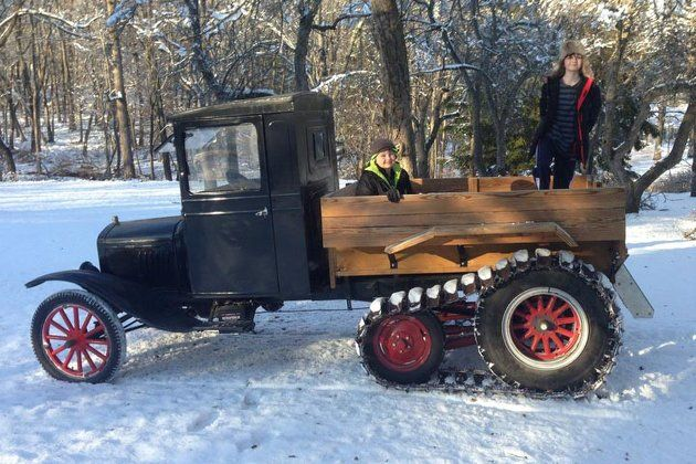 This Ford Model T is the Ideal Snowmobile - Yahoo Autos