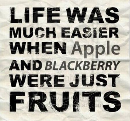 Apple and Blackberry