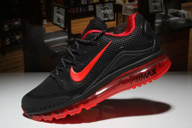 huge discount 72c5b 41559 Nike Air Max 2018 Elite Hot Black Red Shoes For Men | Nike ...