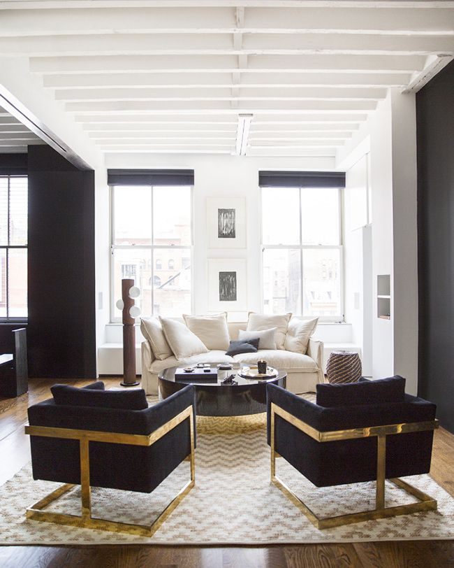 Modern Glam Living Room Decorating Ideas 19: Take It Or Leave It: Meatpacking Glam Edition