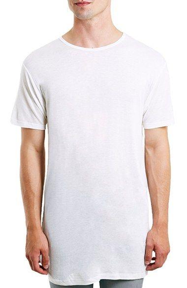 Topman Side Split Longline Crewneck T-Shirt