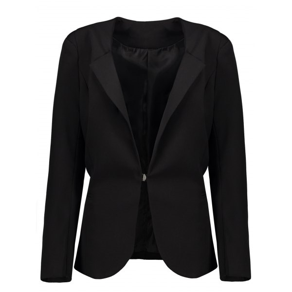 28.83$  Watch now - http://difo7.justgood.pw/go.php?t=206450503 - Plus Size Long Sleeve Blazer 28.83$
